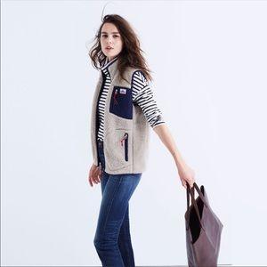 Penfield x Madewell Lucan Deep Pile Fleece Vest